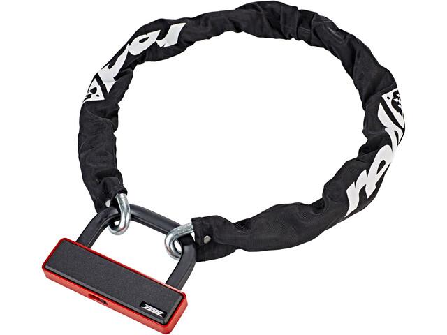 Red Cycling Products High Secure Steel candado de cadena, negro/rojo